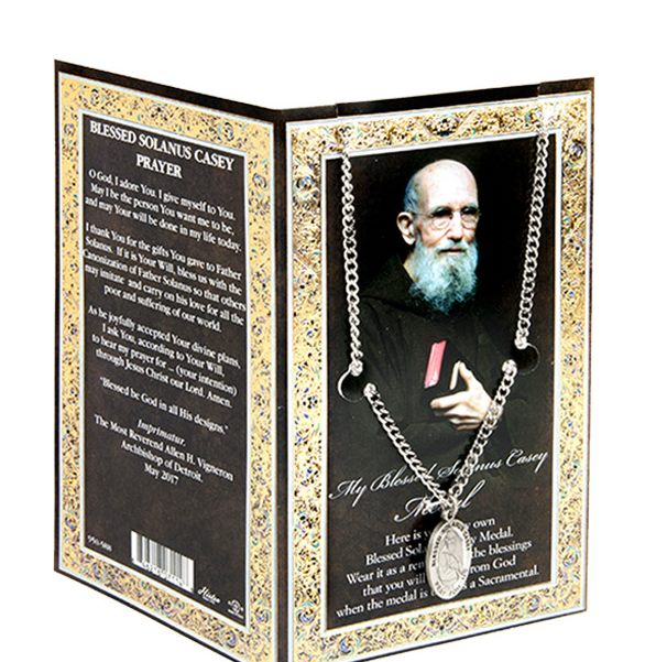 Blessed Solanus Medal with prayer card