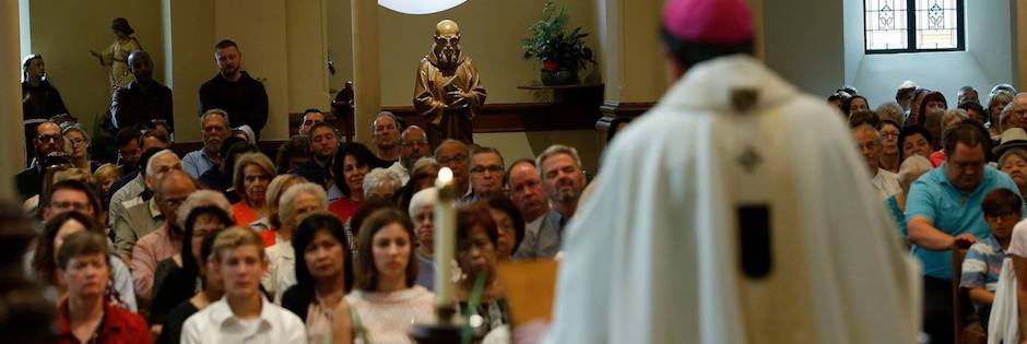 Detroit Archbishop Allen H. Vigneron celebrating Mass at St. Bonaventure Chapel